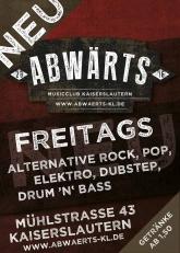 Abwärts Musicclub Party Freitag