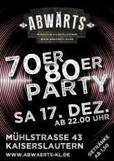 Abwärts Musicclub - 70er 80er Party