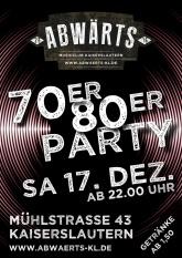 Abwärts Musicclub - 70er 80er Party