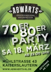 Abwärts 70er 80er Party