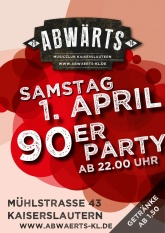 90er Party im Abwärts Musicclub