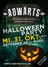 Abwärts Halloween Party