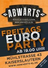 Abwärts Freitags Euro Party