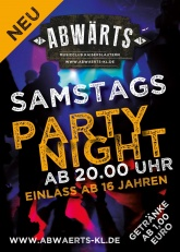 Abwärts Samstags Party Night