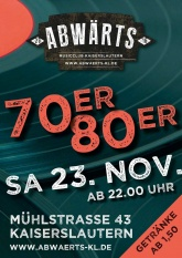 Abwärts 70er 80er Party