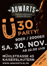 Abwärts Ü30 90er 2000er Party