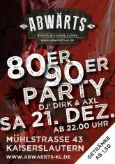 Abwärts 80er 90er Party