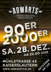 Abwärts 90er 2000er Party